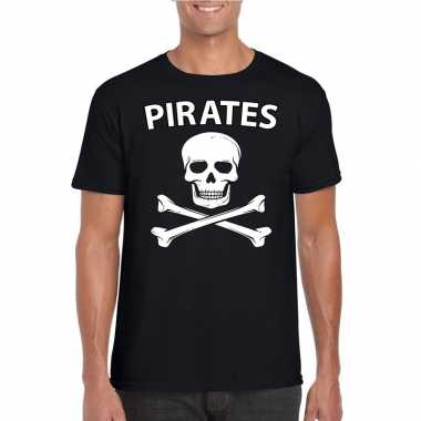 Carnaval piraten t-shirt zwart heren