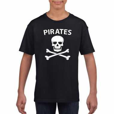 Carnaval piraten t-shirt zwart jongens meisjes