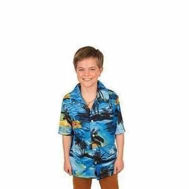 Carnaval verkleed shirt blauw jongens