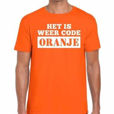 Code oranje shirt oranje kroontje heren