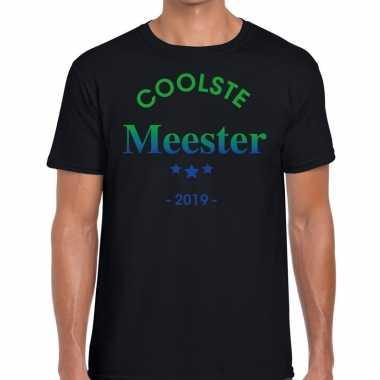 Coolste meester 2019 fun t-shirt zwart heren cadeau meesterdag