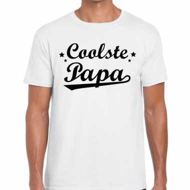 Coolste papa fun t shirt wit heren