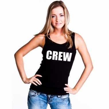 Crew mouwloos shirt zwart dames
