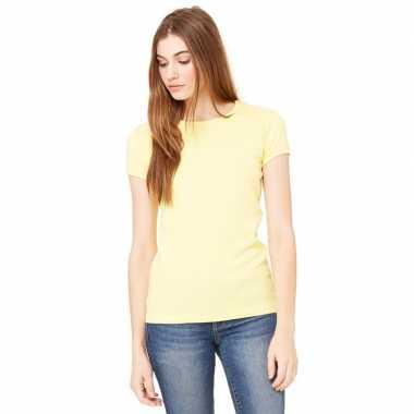 Dames t shirt geel ronde hals hanna