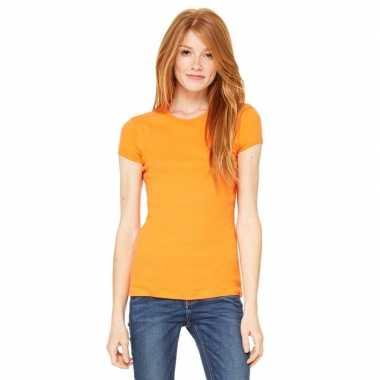 Dames t shirt oranje ronde hals hanna