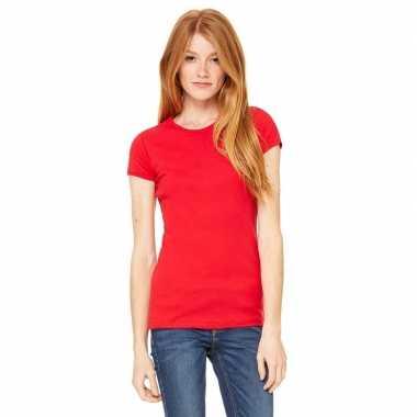 Dames t shirt rood ronde hals hanna