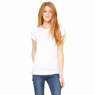 Dames t shirt wit ronde hals hanna