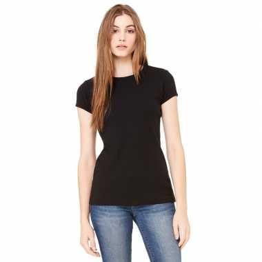 Dames t shirt zwart ronde hals hanna