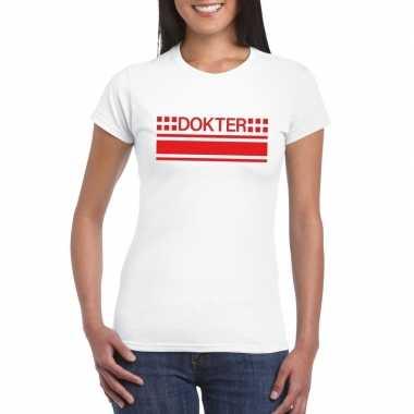 Dokters t shirt wit dames