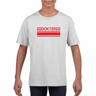 Dokters t shirt wit kinderen