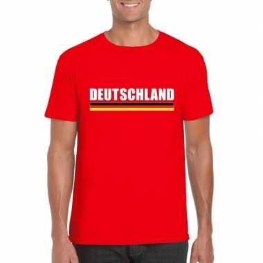 Duitse supporter t shirt rood heren