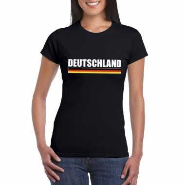 Duitse supporter t shirt zwart dames