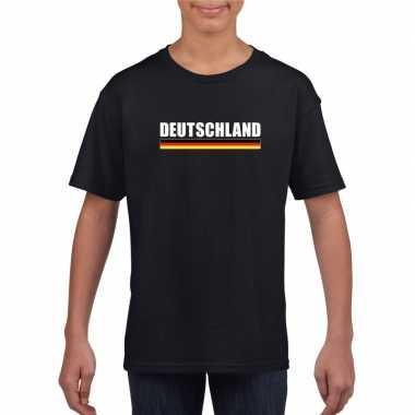 Duitse supporter t shirt zwart kinderen