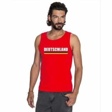 Duitsland supporter mouwloos shirt/ tanktop rood heren