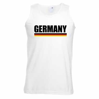 Duitsland supporter mouwloos shirt/ tanktop wit heren