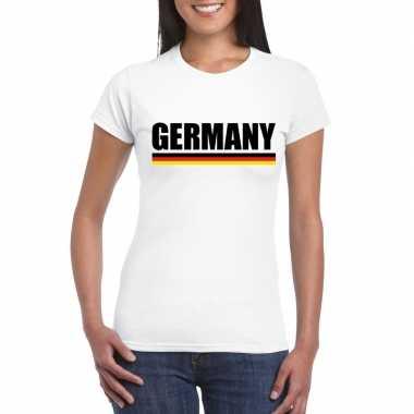 Duitsland supporter shirt wit dames