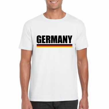 Duitsland supporter shirt wit heren