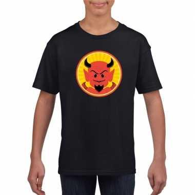 Duivel halloween t shirt zwart jongens meisjes