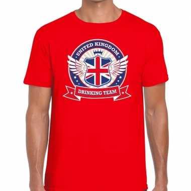 Engeland drinking team t shirt rood heren