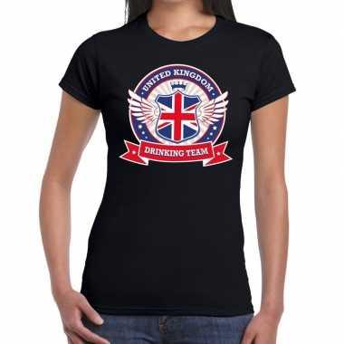 Engeland drinking team t shirt zwart dames