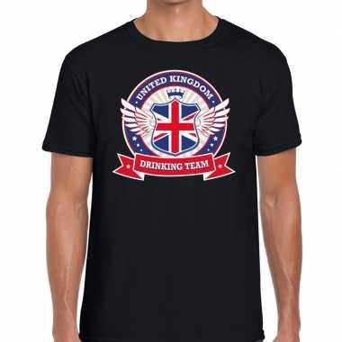 Engeland drinking team t shirt zwart heren