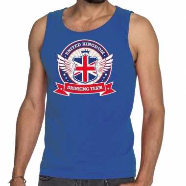 Engeland drinking team tanktop / mouwloos shirt blauw heren