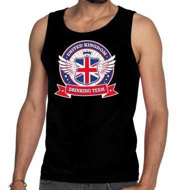 Engeland drinking team tanktop / mouwloos shirt zwart heren