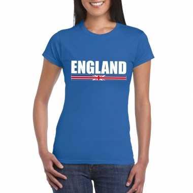 Engelse supporter t shirt blauw dames