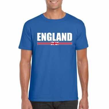 Engelse supporter t shirt blauw heren