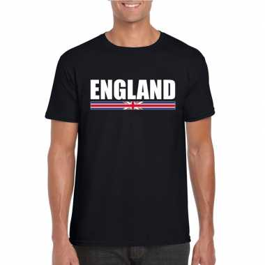 Engelse supporter t shirt zwart heren
