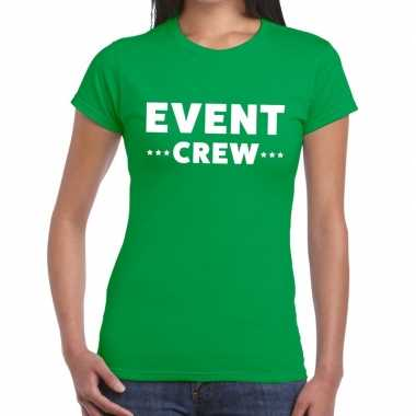 Evenement crew t shirt groen event crew bedrukking dames