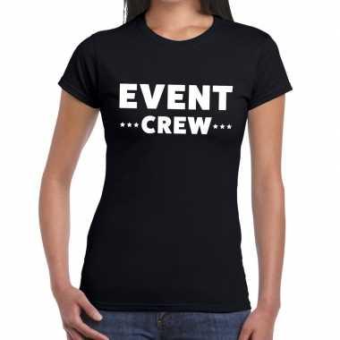 Evenement crew t shirt zwart event crew bedrukking dames