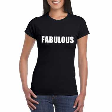 Fabulous fun t-shirt zwart dames