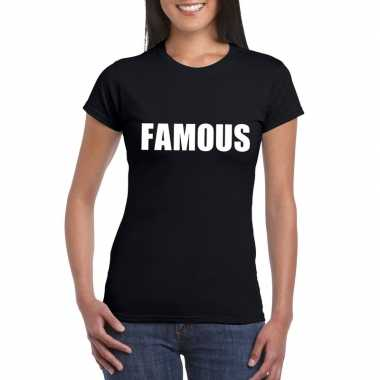 Famous fun t-shirt zwart dames
