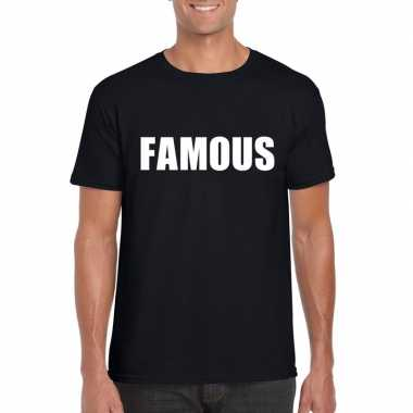 Famous fun t-shirt zwart heren