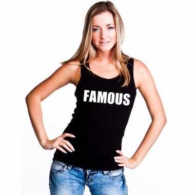 Famous mouwloos shirt zwart dames