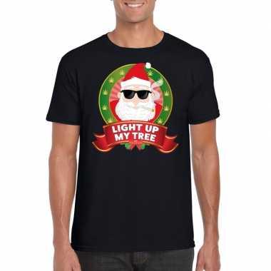 Foute kerst shirt blowende kerstman heren