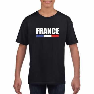Franse supporter t shirt zwart kinderen
