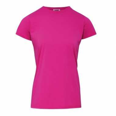 Fuchsia dames t shirts ronde hals