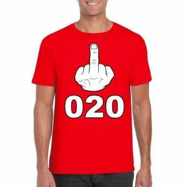 Fuck 020 t shirt heren rood
