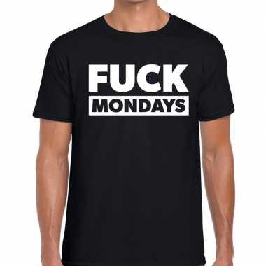 Fuck mondays fun t shirt zwart heren