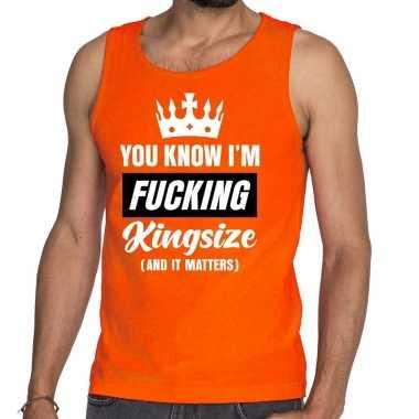 Fucking kingsize tanktop / mouwloos shirt oranje heren