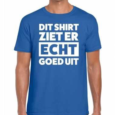 Fun t shirt dit shirt ziet er echt goed uit blauw heren