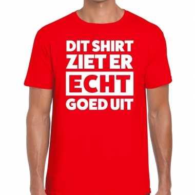 Fun t shirt dit shirt ziet er echt goed uit rood heren