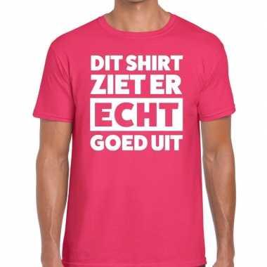 Fun t shirt dit shirt ziet er echt goed uit roze heren