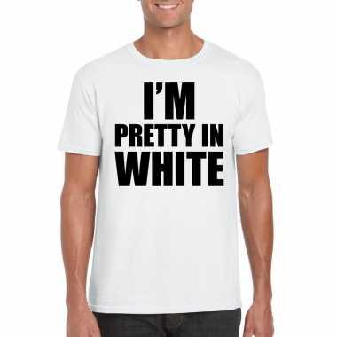 Fun t shirt i am pretty white wit heren