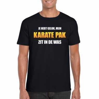 Fun t shirt karatepak was zwart heren
