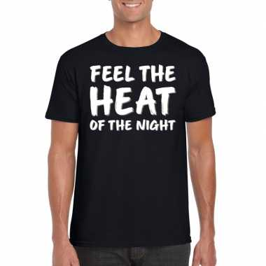 Fun tekst shirt heren feel the heat