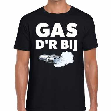 Gas der bij zwarte cross achterhoek t shirt zwart heren
