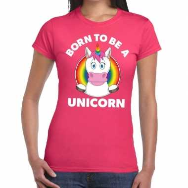 Gay pride born to be a unicorn t shirt roze dames
